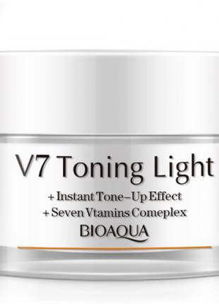 Крем для лица bioaqua v7 toning light, 50 г