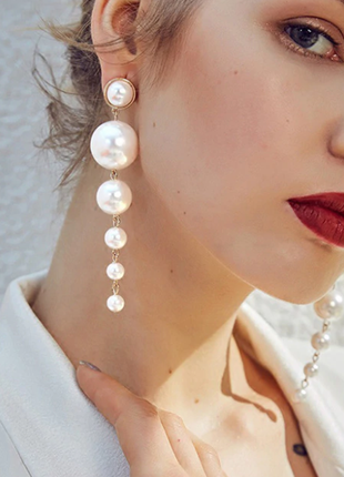 "Серьги с жемчугом ""magic pearls"", золото"