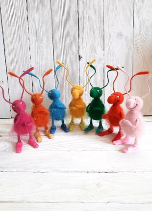 Игрушки по рисунку вашего ребёнка валяные из шерсти Подарок 8м...