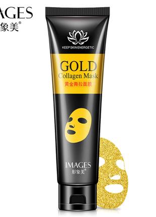 Маска-пленка с золотом и коллагеном images collagen mask, 60 мл