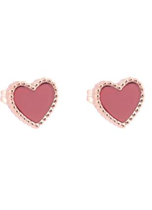 Серьги красные сердца