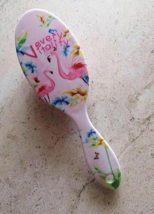 Расческа, фламинго, розовая