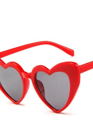 Очки сердечки красные