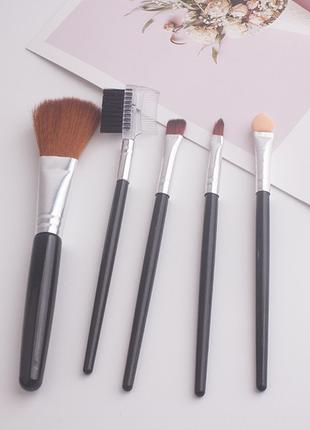Набор кистей для макияжа, черные