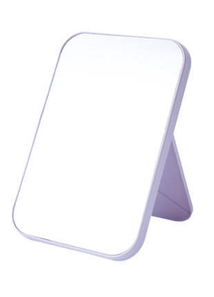 Зеркало косметическое складное, на подставке, фиолетовое