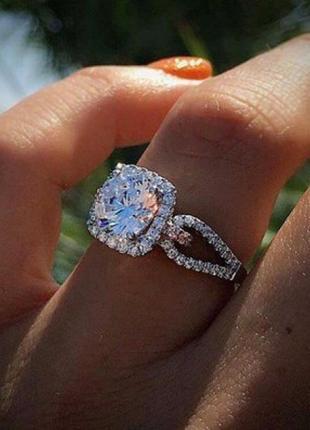 """Кольцо """"unique diamond"""", кольцо с камнем"""