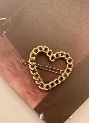 Заколка для волос hairpin chain, сердце