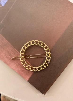 Заколка для волос hairpin chain, круг
