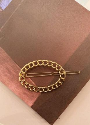 Заколка для волос hairpin chain, овал