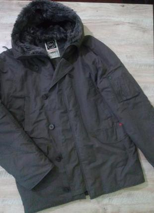 Мужская зимняя куртка парка большого размера