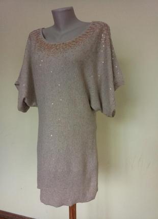 Теплое платье туника с ангорой