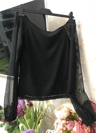Стильная кофта, блуза со спущенными, голыми,открытыми плечами