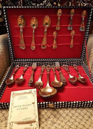 Набор столовых приборов silver plated cutlery италия