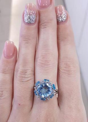 Серебряное кольцо с натуральным кварцем