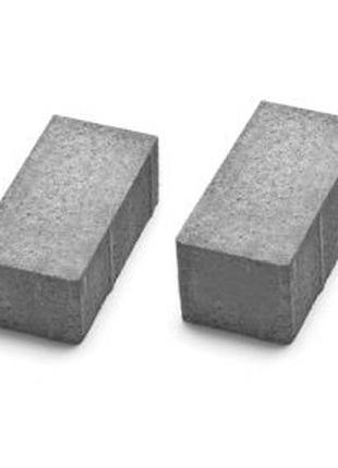 Кирпичик без фаски 200*100*40 мм серого цвета