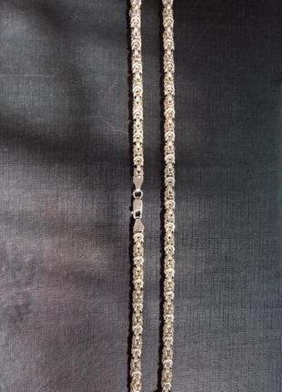 Серебряная цепь ручной работы