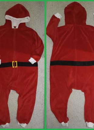 Next 140см санта кигуруми новый год рождество слип пижама костюм