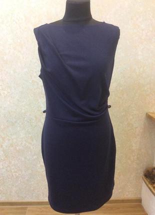 Платье темно-синее на каждый день