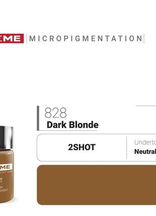 Пигменты для татуажа Doreme 828 Dark Blonde Doreme 2Shot Pigments