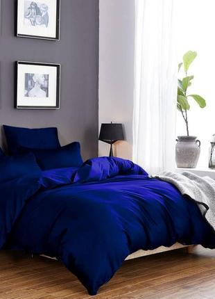 """Постельное белье cottontwill""""solid colors"""" темно синий"""