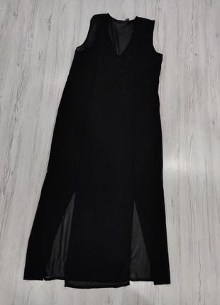 👑♥️final sale 2019 ♥️👑  шифоновое прозрачное платье черное