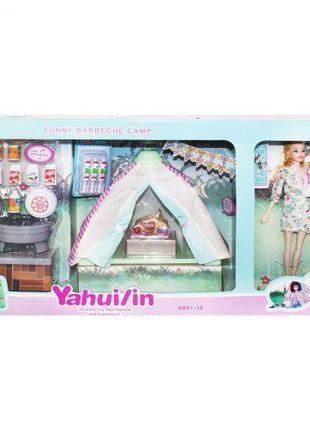 """Игровой набор с куклой и палаткой """"Кемпинг"""" 6801-10"""