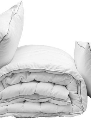 """Одеяло лебяжий пух """"White"""" евро + 2 подушки 70х70"""