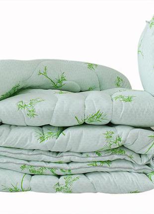 Одеяло лебяжий пух Bamboo white евро + 2 подушки 50х70