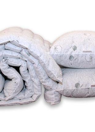 "Одеяло лебяжий пух ""Cotton"" евро + 2 подушки 50х70"
