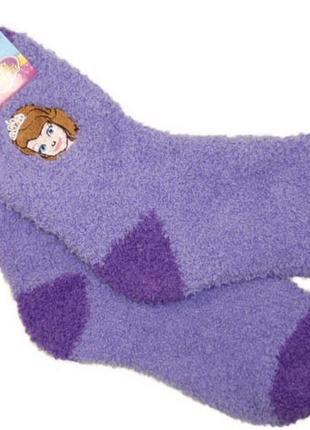 Пушистые мягкие теплые носки травка для девочки софия disney р...