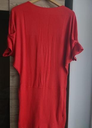Крутое платье кораллового цвета ljr s/m