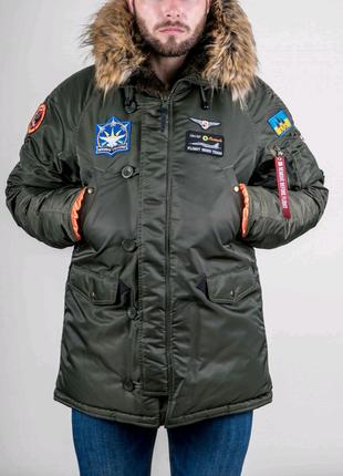 Аляска N-3B Olymp 2018 з нашивками Ukrainian Falcons - Slim Fit,