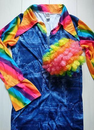 Карнавальный костюм клоуна с париком