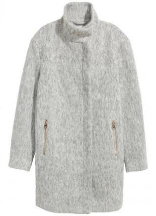 Прямое пальто из фетровой смесовой шерсти h&m