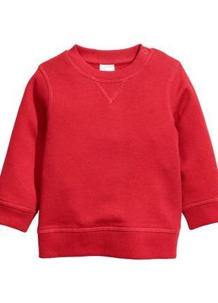 Стильный свитшот красного цвета h&m