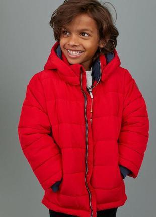 Стильная  демисезонная  куртка красного цвета  от h&m
