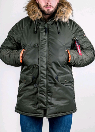 Зимова Аляска N-3B Olymp 2018 — Slim Fit, Khaki