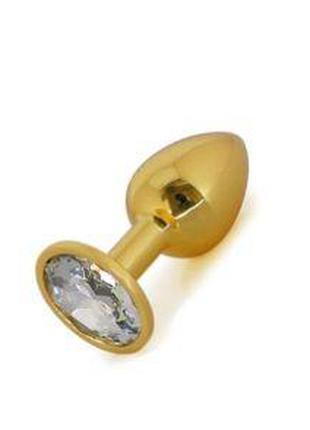 Анальная пробка Gold Metall Diamond, M