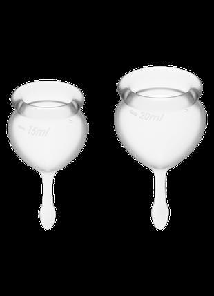 Менструальные чаши SATISFYER FEEL GOOD MENSTRUAL CUP WHITE