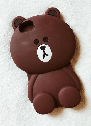 Резиновый чехол мишка на iphone 6 plus