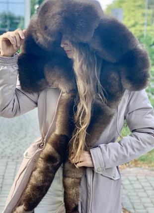 Зимняя парка с натуральным мехом