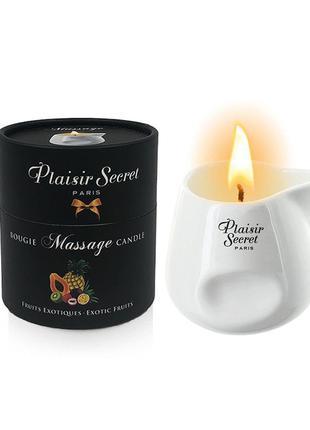 Массажная свеча Plaisirs Secrets Pineapple Mango (80 мл) подар...