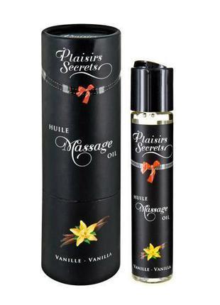 Массажное масло Plaisirs Secrets Vanilla (59 мл) с афродизиака...