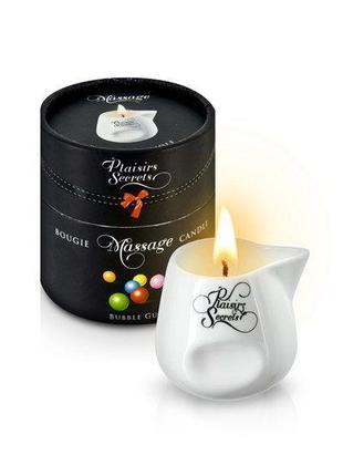 Массажная свеча Plaisirs Secrets Bubble Gum (80 мл) подарочная...