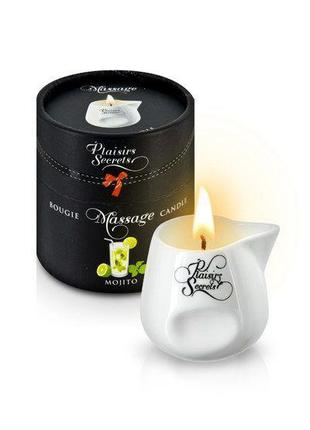 Массажная свеча Plaisirs Secrets Mojito (80 мл) подарочная упа...