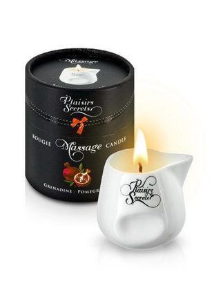 Массажная свеча Plaisirs Secrets Pomegranate (80 мл) подарочна...
