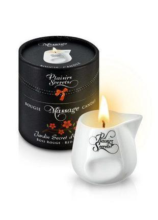 Массажная свеча Plaisirs Secrets Red Wood (80 мл) подарочная у...