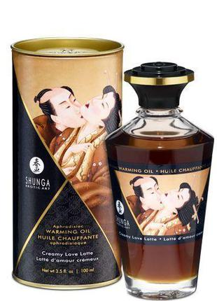 Разогревающее масло Shunga Aphrodisiac Warming Oil - Creamy Lo...