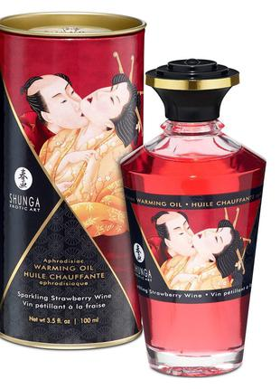 Разогревающее масло Shunga Aphrodisiac Warming Oil - Sparkling...