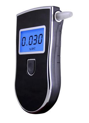 Алкотестер алкометр цифровой профессиональный AT818, 5 мундштуков